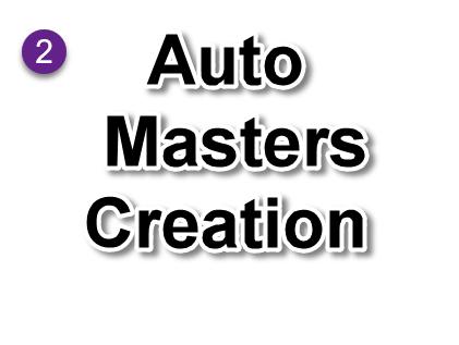 Auto create masters using udiMagic